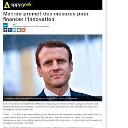 Macron promet des mesures pour financer l'innovation