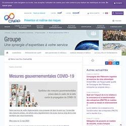 Mesures gouvernementales COVID-19 - CNPP
