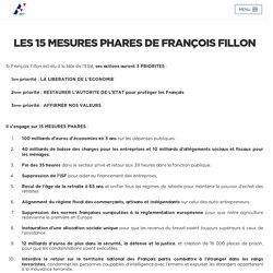 Les 15 mesures phares de François Fillon - François Fillon 2017