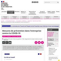 Mesures prévention entreprise pour être protégé face au COVID-19