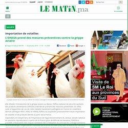 LE MATIN 29/01/16 Importation de volailles - L'ONSSA prend des mesures préventives contre la grippe aviaire