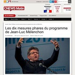 Les dix mesures phares du programme de Jean-Luc Mélenchon