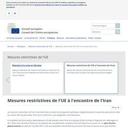 Mesures restrictives de l'UE à l'encontre de l'Iran