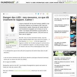 Danger des LED : nos mesures, ce que dit vraiment le rapport. Calme !