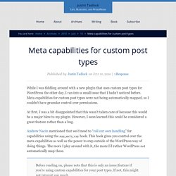 Meta capabilities for custom post types