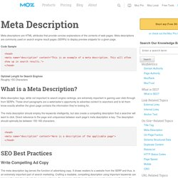 Meta Description Tag - Learn SEO