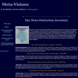 Meta-Motivation Inventory