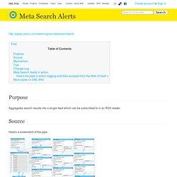 Meta Search Alerts - SML Wiki