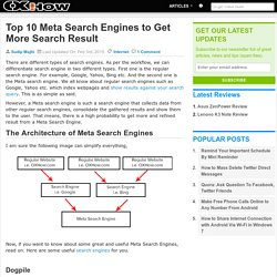 Top 10 Meta Search Engines to Get More Search Result