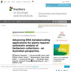 Advancing DNA metabarcoding applications for plants requires systematic analysis of herbarium collections