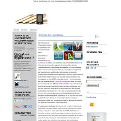 Metablog Journal de l'Hypertexte