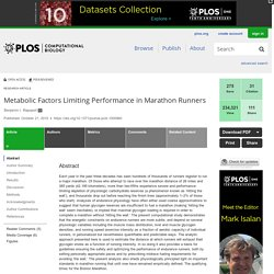 Metabolic Factors Limiting Performance in Marathon Runners