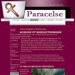 Acidose métabolique et bioélectronique