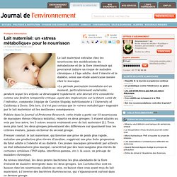 Lait maternisé: un «stress métabolique» pour le nourrisson