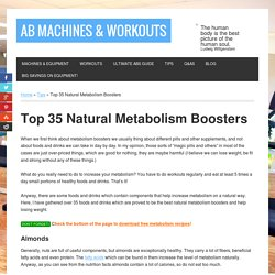 Top 35 Natural Metabolism Boosters Revealed