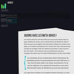 Créez vos metaboxes WordPress - guide complet