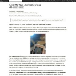 Level-Up Your Machine Learning