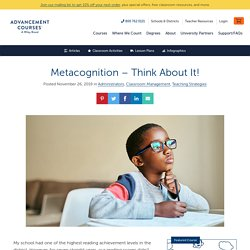 Metacognition – Think About It!
