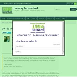 Do You Pose Questions That Invite Metacognition? - Learning Personalized