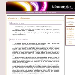 Metacognition : Qu'est-ce que la métacognition
