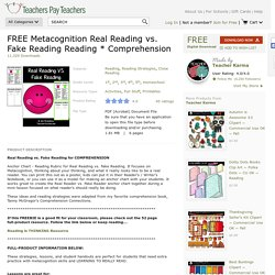 FREE Metacognition Real Reading vs. Fake... by Teacher Karma