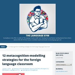 12 metacognition-modelling strategies for the foreign language classroom