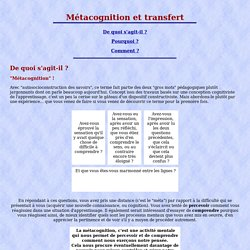 Métacognition et transfert