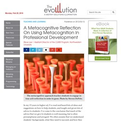 Metacognition and Professional Development