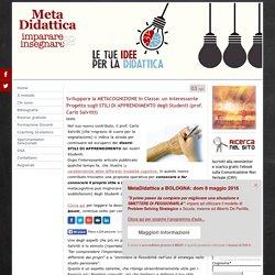 Sviluppare la METACOGNIZIONE in Classe: un interessante Progetto sugli STILI DI APPRENDIMENTO degli Studenti (prof. Carlo Salvitti) - MetaDidattica - imparare æ insegnare