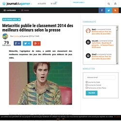 Metacritic publie le classement 2014 des meilleurs éditeurs selon la presse