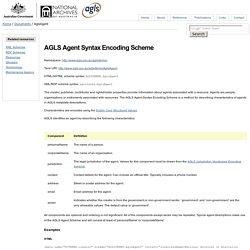 AGLS Metadata Standard - AglsAgent
