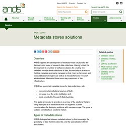 ANDS - Metadata Stores Solutions