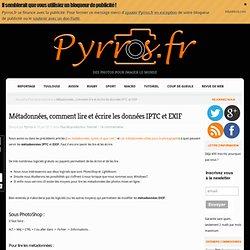 métadonnées, comment lire et écrire les données IPTC et EXIF