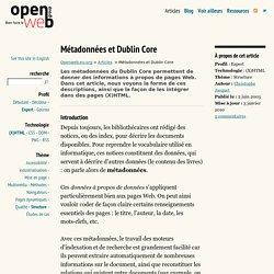 Métadonnées et Dublin Core