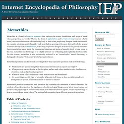 Metaethics [Internet Encyclopedia of Philosophy]