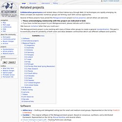 Related projects - Metagovernment - Government of, by, and for all the people
