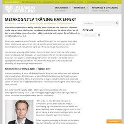 Metakognitiv träning har effekt