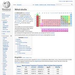 Métal alcalin
