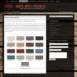 Metal Color Options | Arbor Wood Products