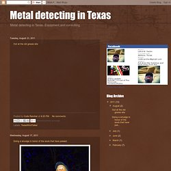 Metal detecting in Texas