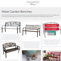 Metal Garden Benches - Hollywood Thing