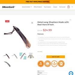 Metal Long Shoehorn Made with Real Horn 8 inch at Best Price