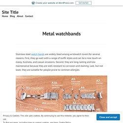 Metal watchbands – Site Title