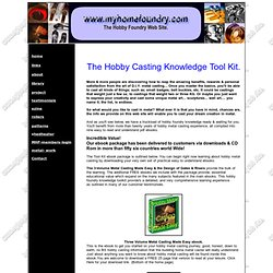 The Hobby Foundry Site,Backyard foundry, backyard metalcasting,hobbycasting,sandcasting