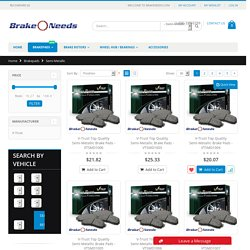 Semi Metallic Brake Pads for Vehicles