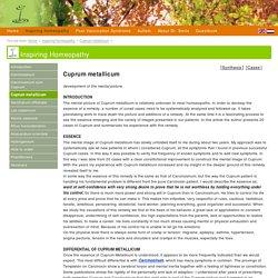 Cuprum metallicum - Inspiring Homeopathy- homeopathy, vaccination and autism website Dr. Tinus Smits