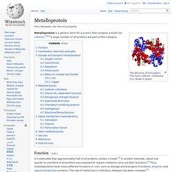 Metalloprotein