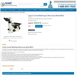 Unitron Inverted Metallurgical Microscope Model MEC2