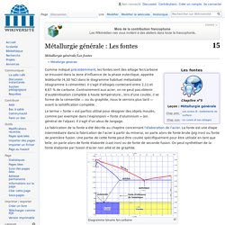 Métallurgie générale/Les fontes