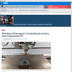 Platinium 3D inauguré : la métallurgie se lance dans l'impression 3D